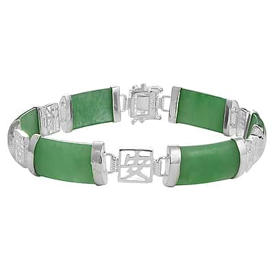 Pulsera de plata jade