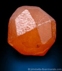 Cristal naranja de espesartita