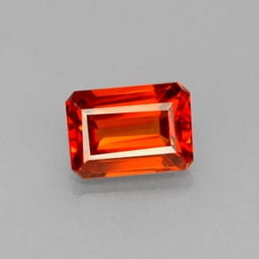 Granate espesartita naranja-rojo