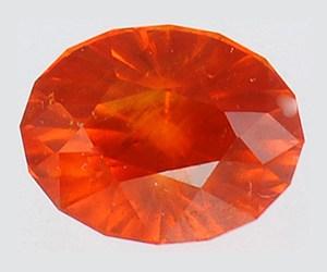 Granate espesartita rojo anaranjado brillante