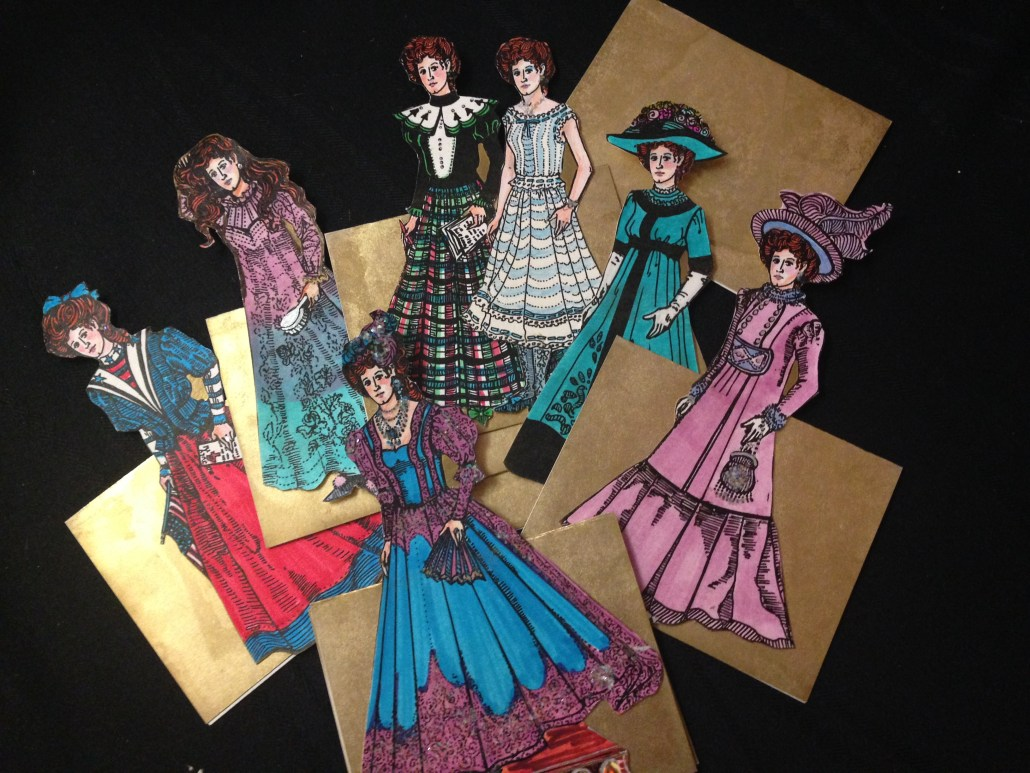 Paper dolls inspired by May Martin Goyne