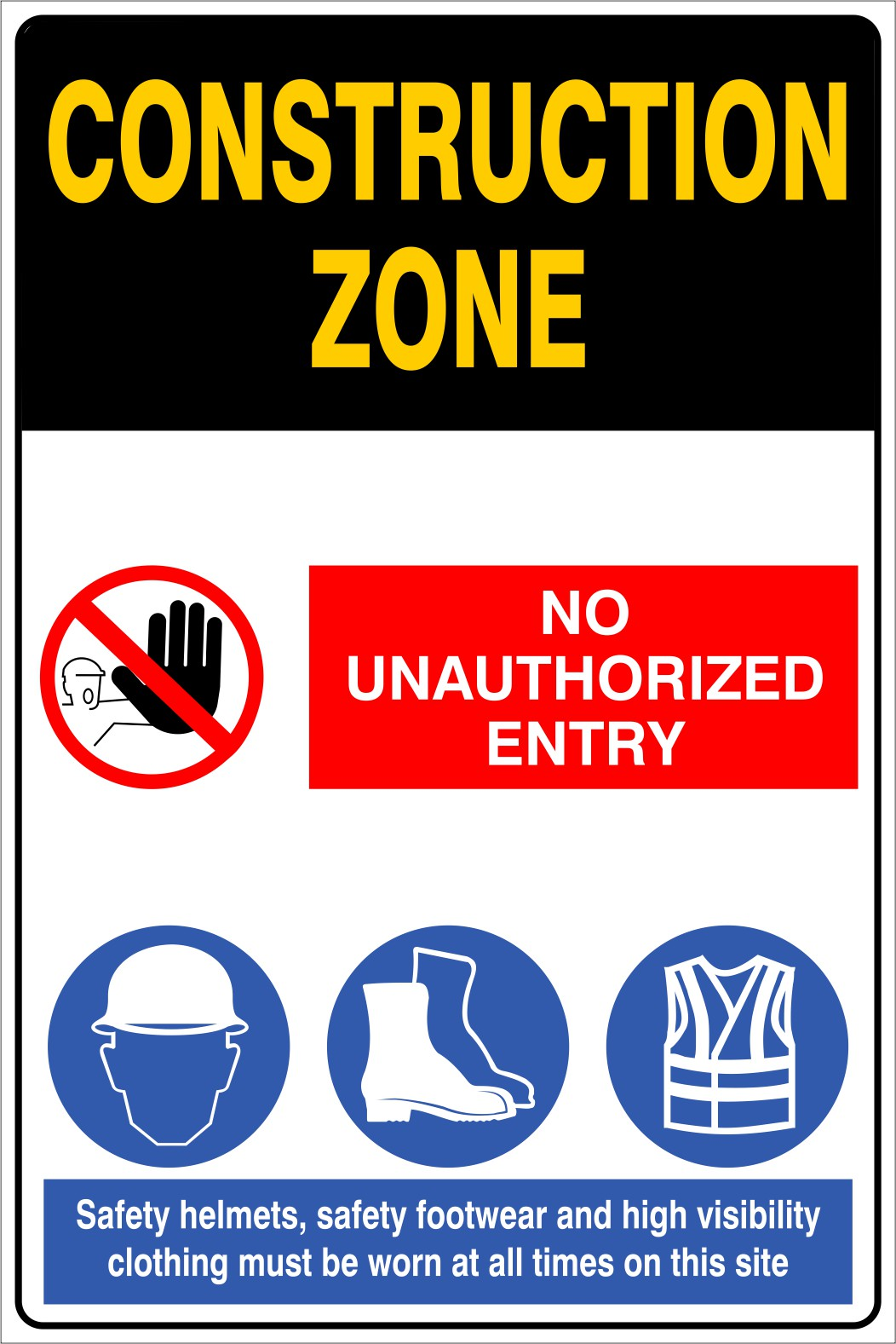 Construction Zone Safety Requirements | Mine Safety Signs