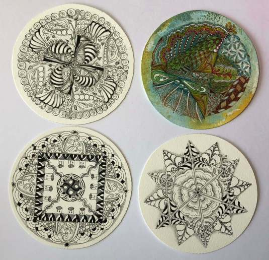 zendala, mandala, zentangle