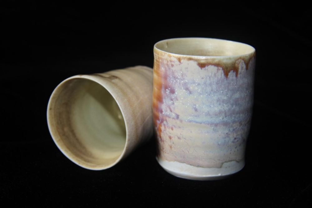 Wood Ash Tea Cup, fired in the noborigama wood kiln