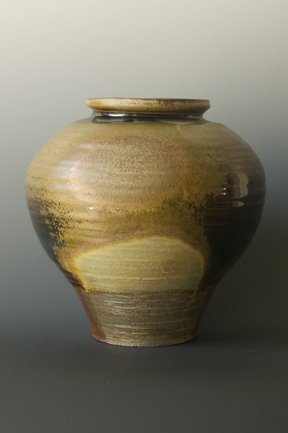 Stoneware, 5-day anagama wood fired, glaze