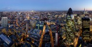 London skyline from Sushisamba, Heron Tower