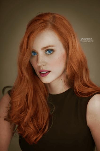 Colorization_deborah_ann_woll_by_cinderellaswan-d5smogn