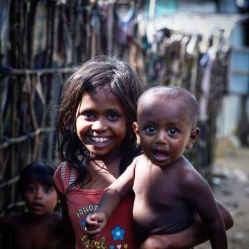 Rohingya Children Happy