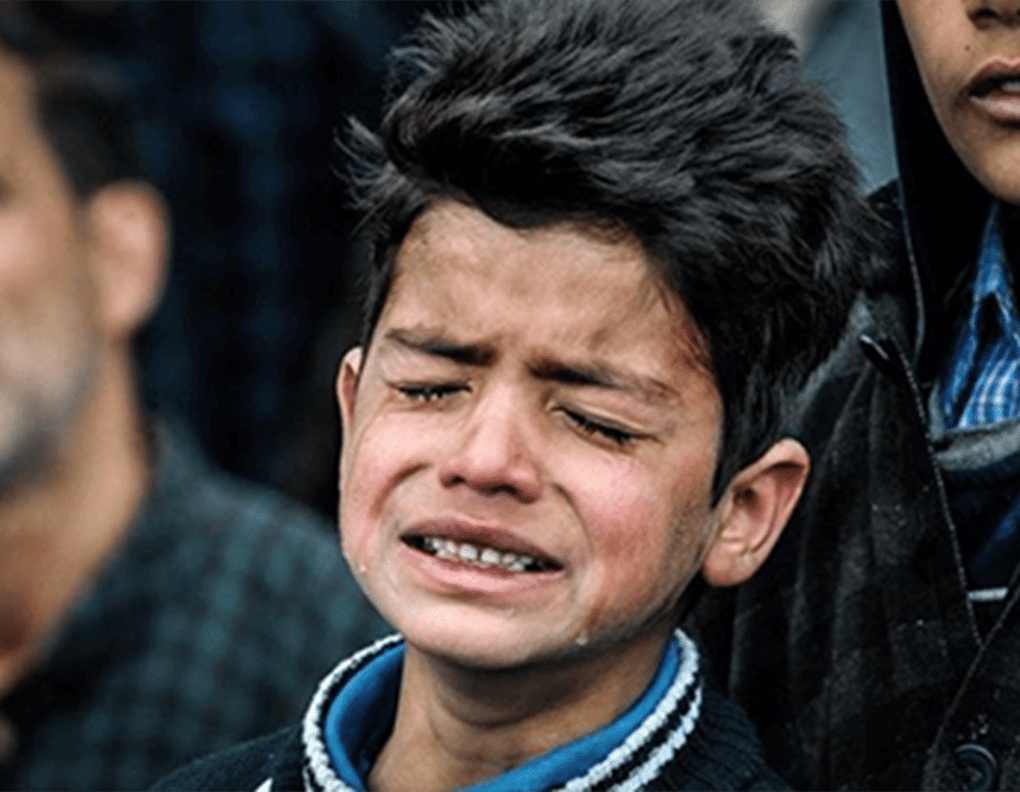 Kashmir Crisis Child Crying