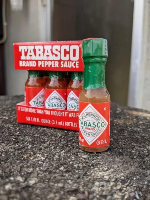 タバスコ ミニチュアボトル 6本セットのご紹介!以前購入したものと比較