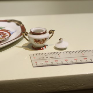 Miniature tea set sugar jar