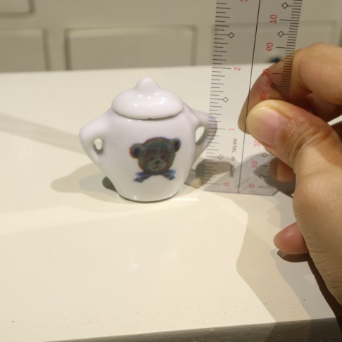 miniature teaset bear sugar height