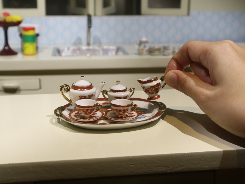 Miniature tea set from Switzerland