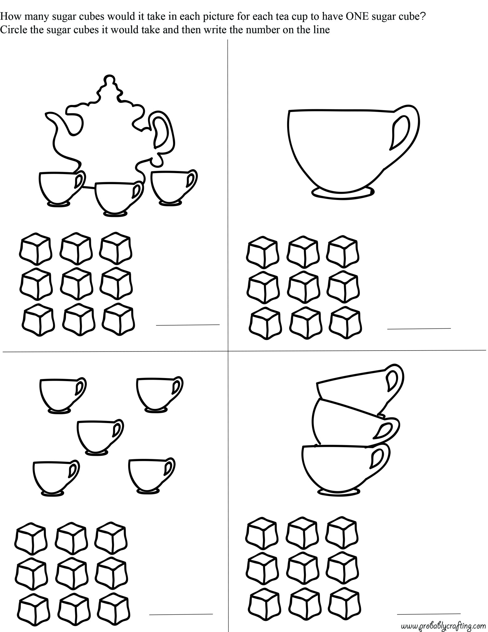 Free Tea Time Printables