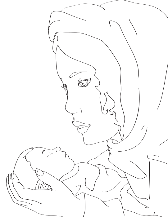 Mary and Baby Jesus Coloring Page ⋆ Miniature Masterminds