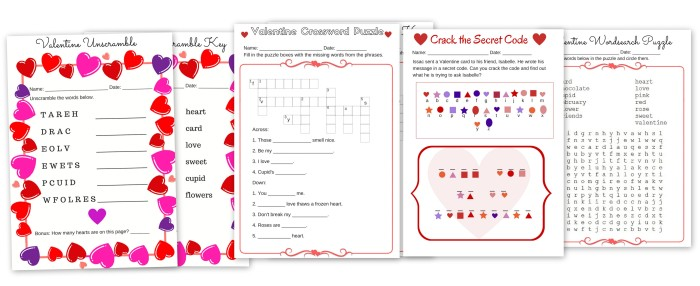 graphic about Valentine's Day Crossword Puzzle Printable identify Absolutely free Valentines Working day Printable Puzzle Pack Phrase glimpse, Code