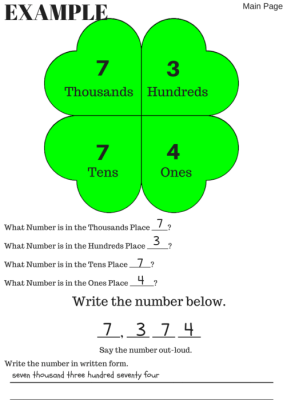 Shamrock Place Value