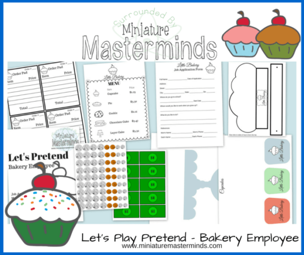 Let's Play Pretend - Bakery Employee - Free Printable Dramatic Play Pack