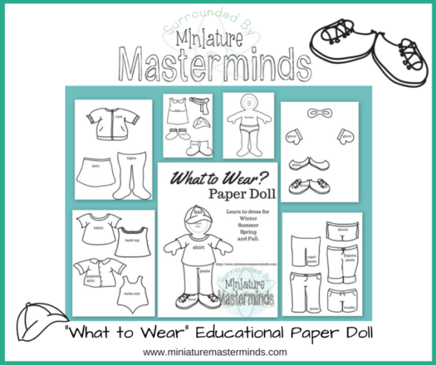 What to Wear Educational Paper Doll