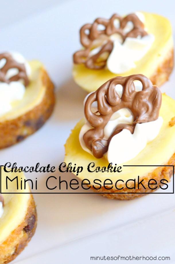 Chocolatechip Cookie Mini Cheesecakes With chocolate Turkey patterns