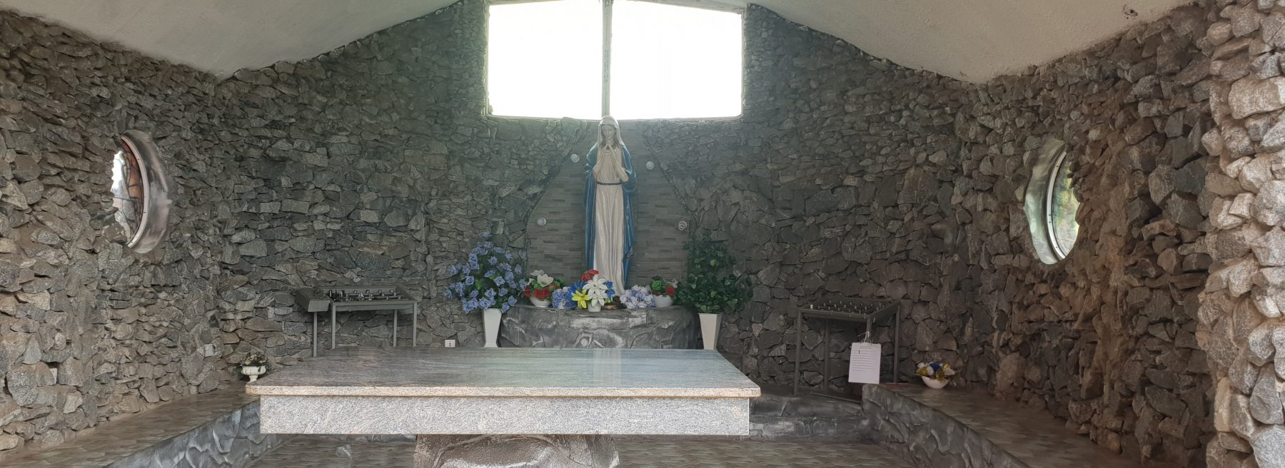 St Theresa Church grotto close view