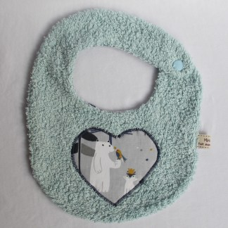 Bavoir bébé taille 0-6 mois motif ours polaire