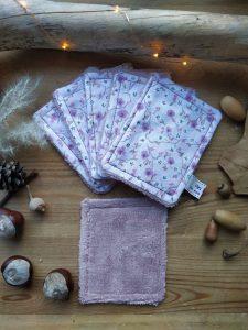 lot-de-6-lingettes-demaquillantes-coloris-fleurs-mauves
