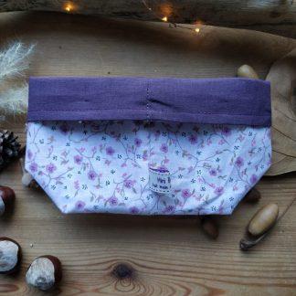 panier-tissu-coloris-fleurs-mauves- violet