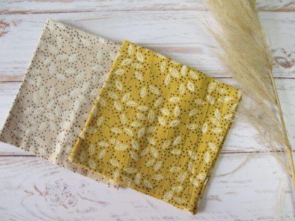 serviettes-table-coton-moutarde-beige