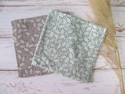 serviettes-table-coton-gris-bleu