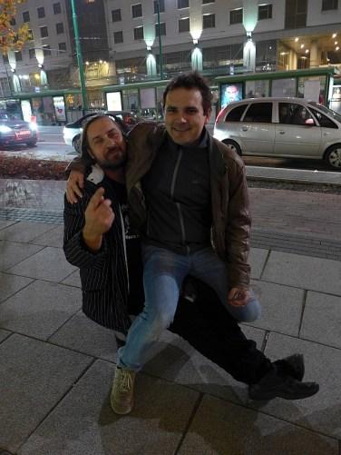 W drodze na after w Domu Piwa. Josefik i Piotr Musielak (Nepomucen)