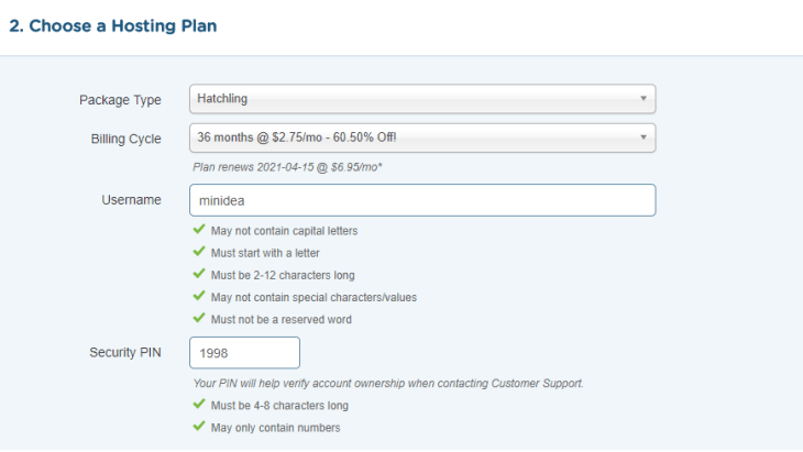 hostgator hatclinag plan