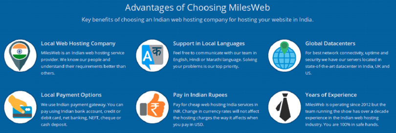 mileweb hosting advantages