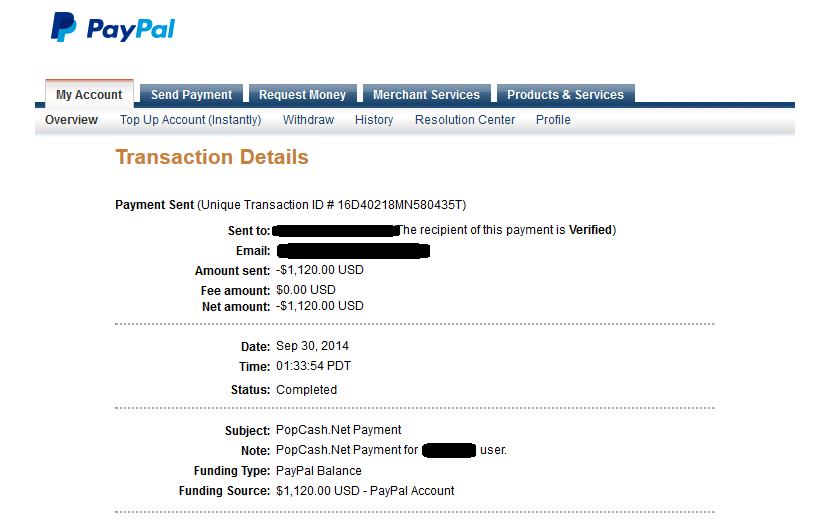 popcash payment proof earning report