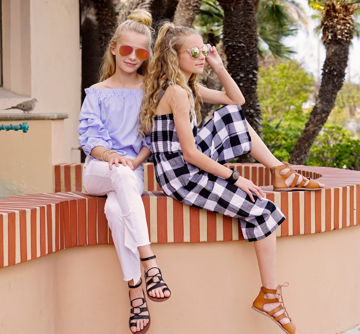 Beach Tropical Vacation Kid Blond Girl With Fashion: Vacay With Habitual Girl