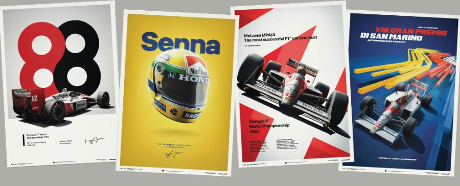 Ayrton Senna Collection Posters
