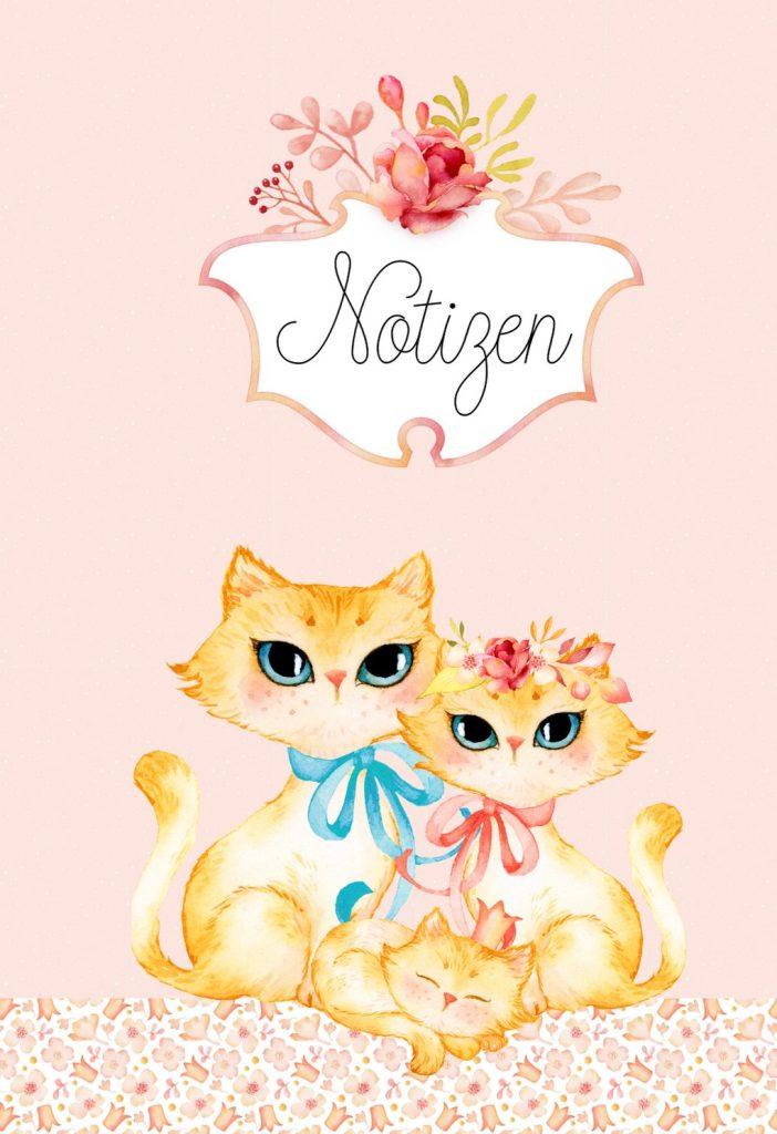 Notizbuch Katzenfamilie von miniKatz Papers