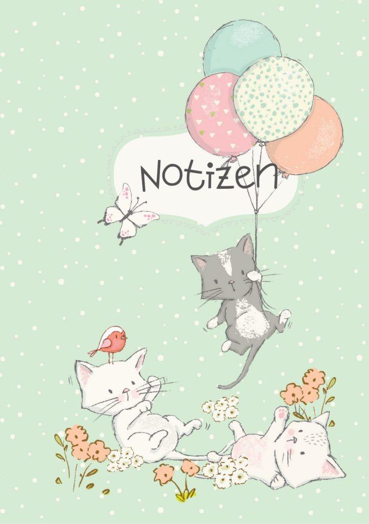 Notizbuch spielende Kätzchen von miniKatz Papers
