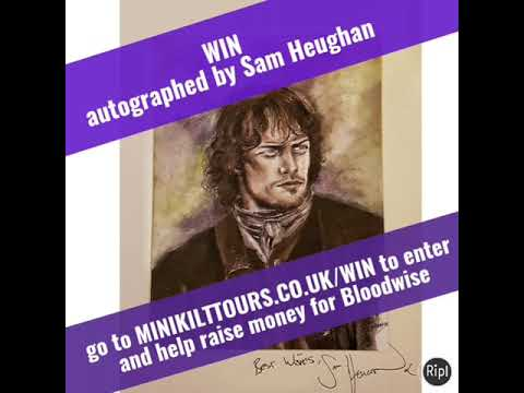 Win! A Signed painting of Sam Heughan as Outlander's Jamie Fraser