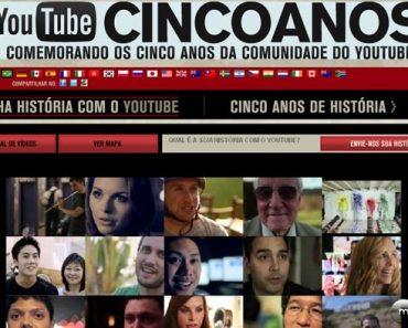 Youtube completa 5 anos: conheça algumas curiosidades e os vídeos mais vistos da sua história