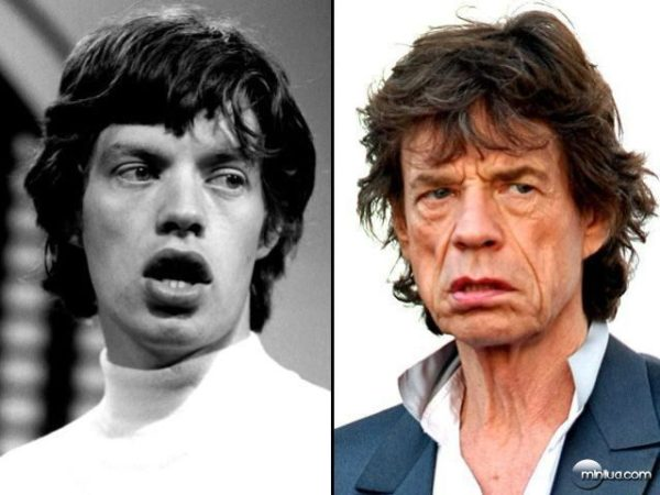 michael philip jagger the rolling stones Astros do Rock: O antes e o depois