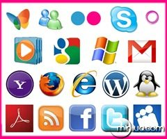 icones-icons-yahoo-adobe-rss-borboleta-msn-firefox-flickr-gmail-facebook-skype-twitter-wordpress-internet-explorer-microsoft-google-myspace-orkut-media-player-linux