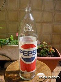 pepsi garrafa de vidro