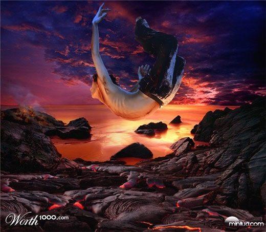 falling-on-a-molten-lava