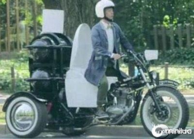 triciclo movido a fezes