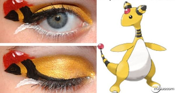maquiagem-para-os-olhos-pokemon-make-ampharos