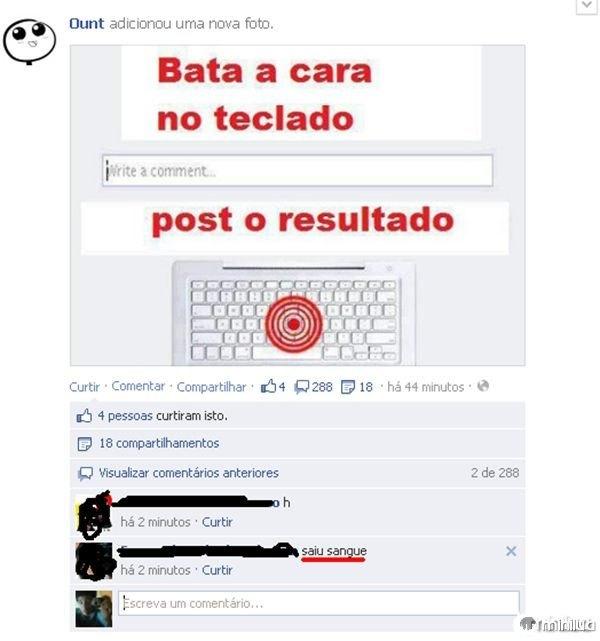 Cara no Teclado - Facebook [EDITADO]