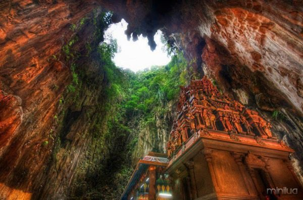 Temple Deep in the Caves, Borneo, West Malaysia