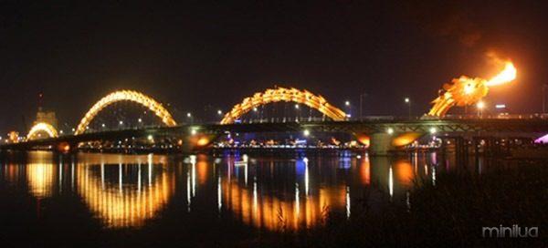 Đà Nẵng: Chuẩn bị khánh thành thông xe cầu Rồng