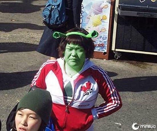 japonesa linda shrek fanatismo